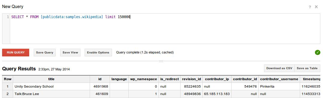 Big Query Search
